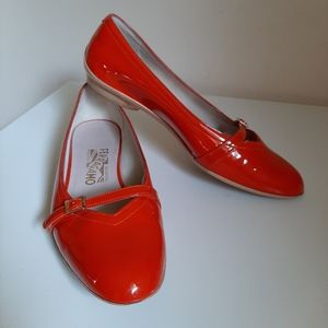 Salvatore Ferragamo Patent Leather Flats Shoes